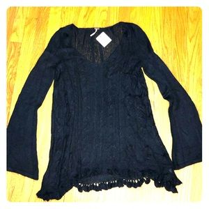 NWT Free People Black Knit Tunic